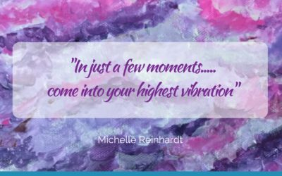 In just a few moment…come into your highest frequency!